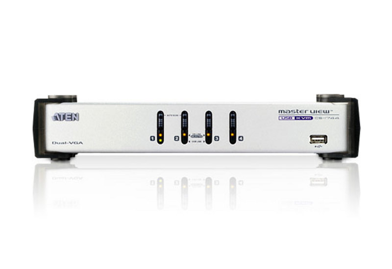 4-Port USB VGA Dual Display/Audio KVMP™ Switch-3