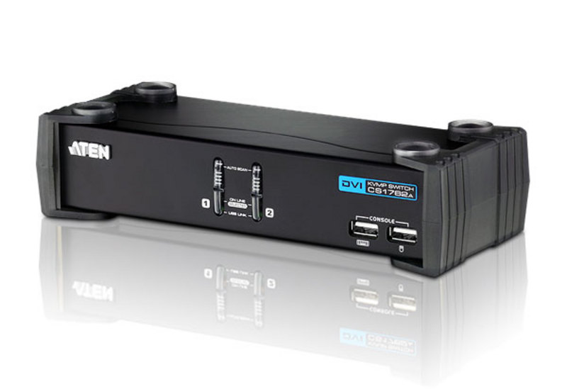 USB DVI/Audio KVMP™-switch med 2 portar