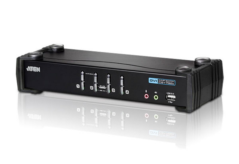 Switch USB DVI/Audio KVMP™ de 4 portas-1