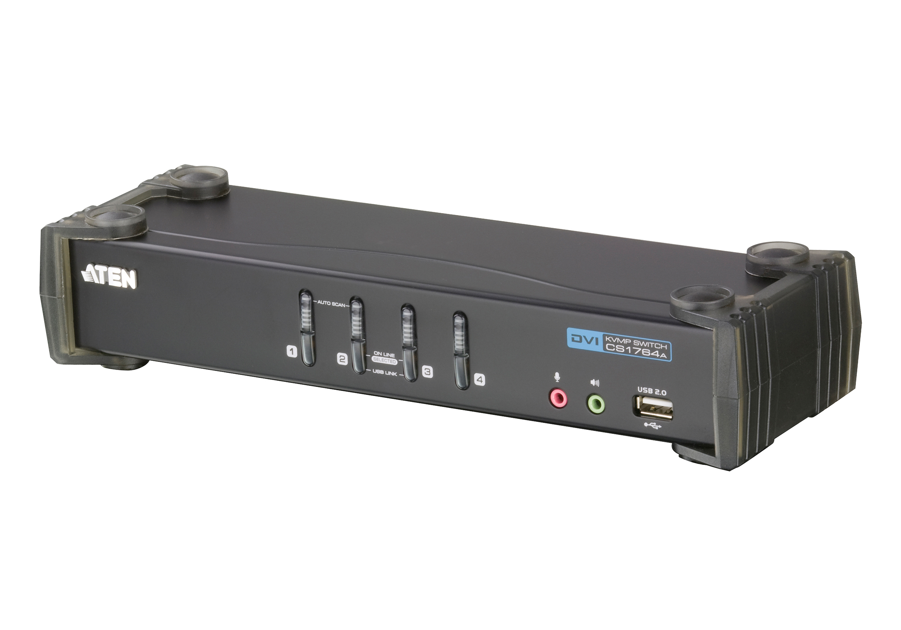 4-Port USB DVI/Audio KVMP™ Switch