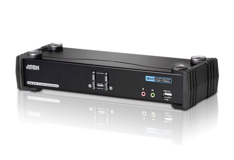 Switch USB DVI Dual Link/CH7.1 Audio KVMP™ de 2 portas-1