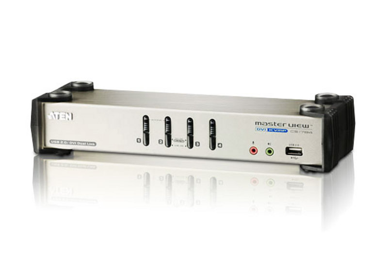 4-Port USB 2.0 DVI KVMP Switch-1