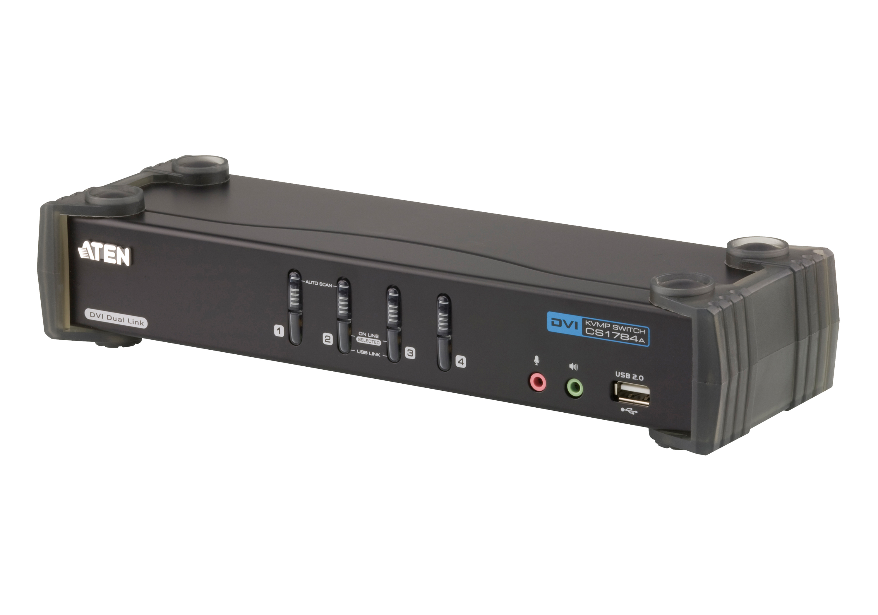 Switch USB DVI Dual Link/Audio KVMP™ de 4 portas