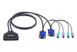 2-Port PS/2 VGA Cable KVM Switch (0.9m)