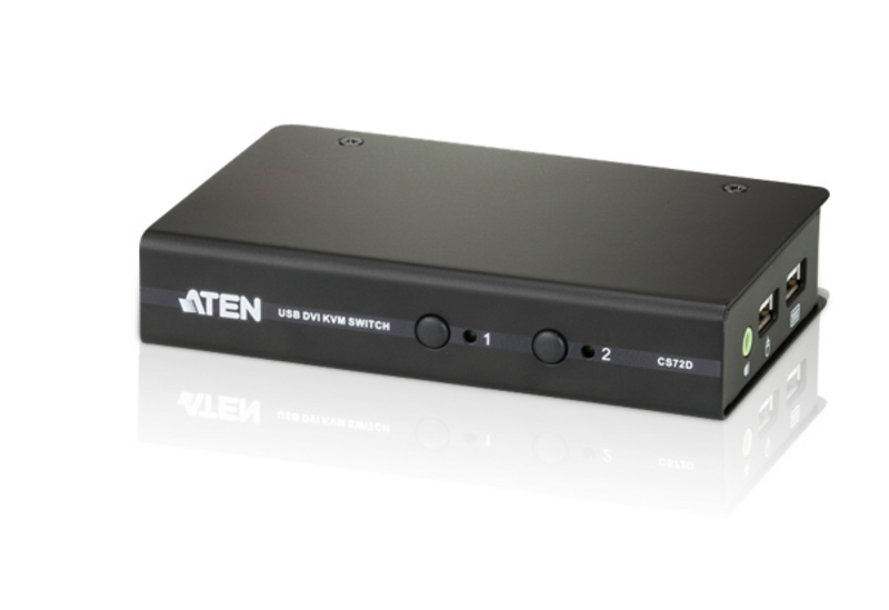 Switch KVM USB DVI/Audio Slim 2-porte-1