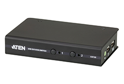 2-Port USB DVI/Audio Slim KVM Switch