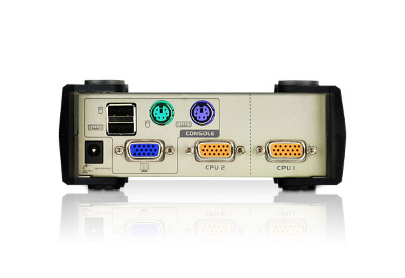 PS/2-USB  VGA  KVM-switch med 2 portar-2