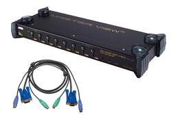 8 Port PS/2 KVM Switch w/ 8 PS/2 Cables
