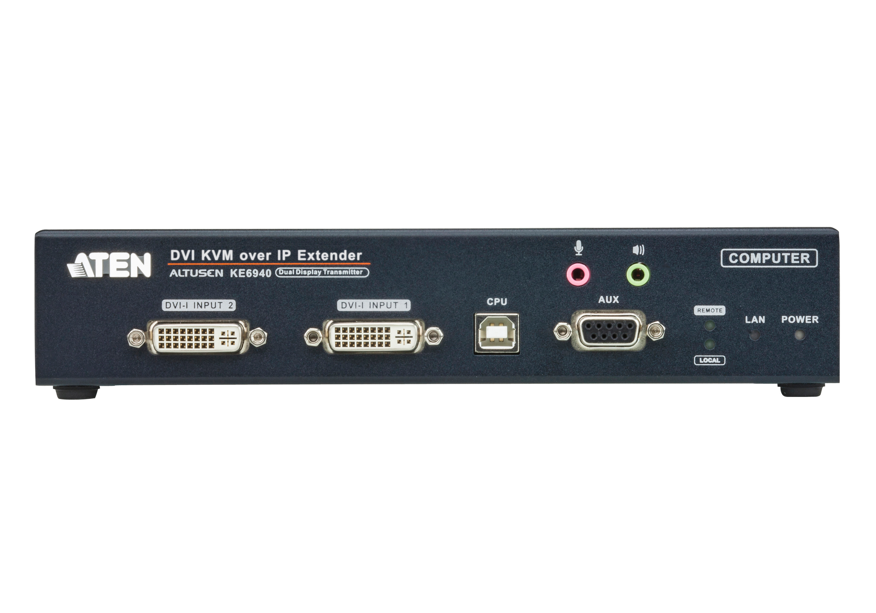 USB DVI-I Dual-Display KVM Over IP Sender-3