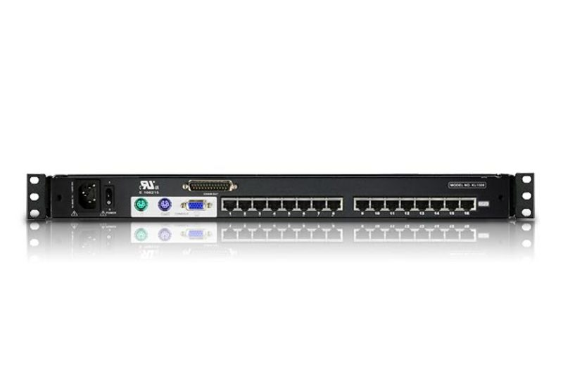 16-Port Cat 5 High-Density Dual Rail LCD KVM Switch-2