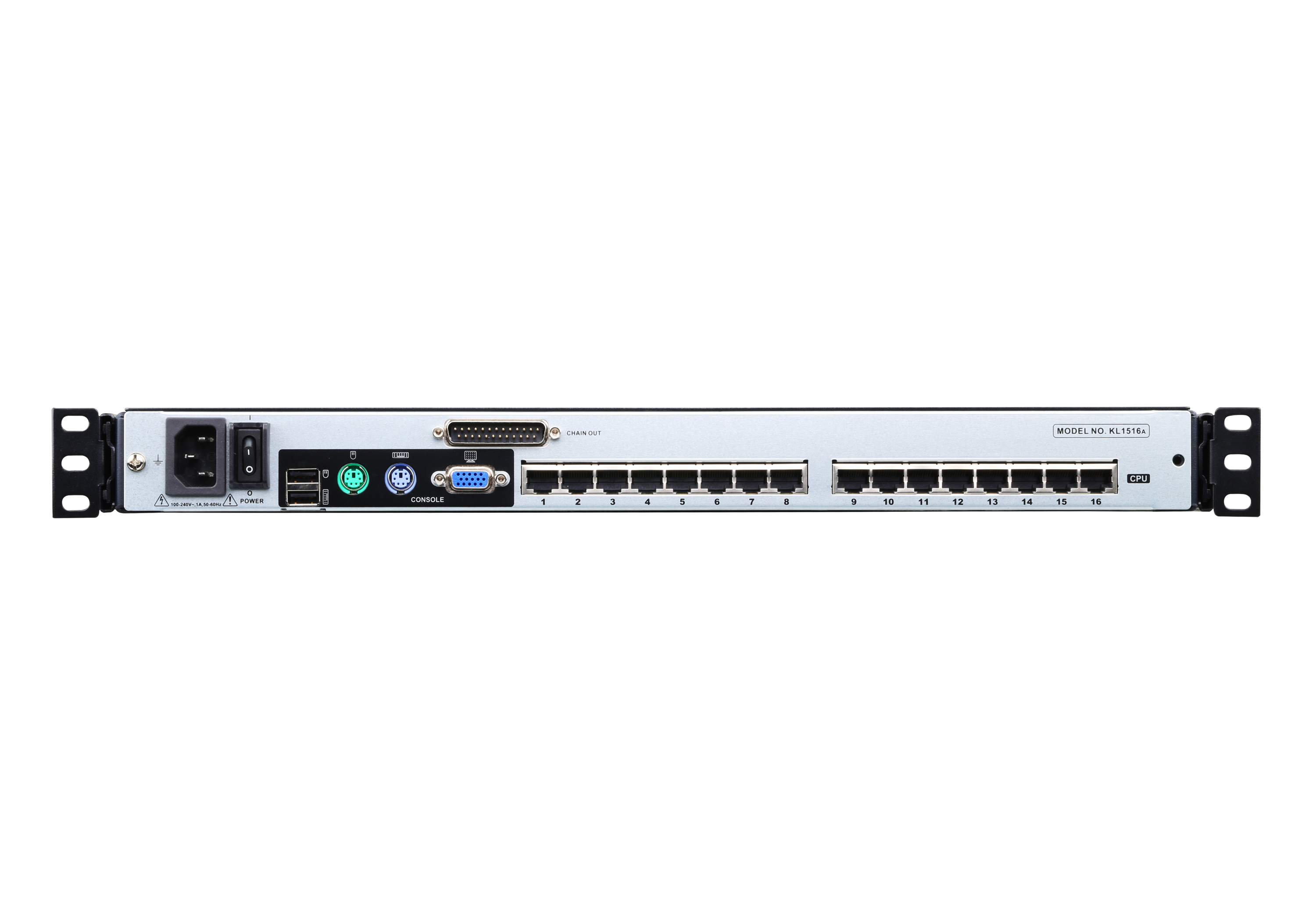 16-Port 17in. CAT5 Dual Rail LCD KVM Switch-2