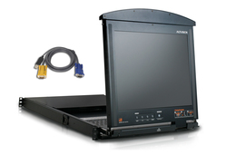 16-Port 17 in. Dual Rail LCD IP KVM Bundle