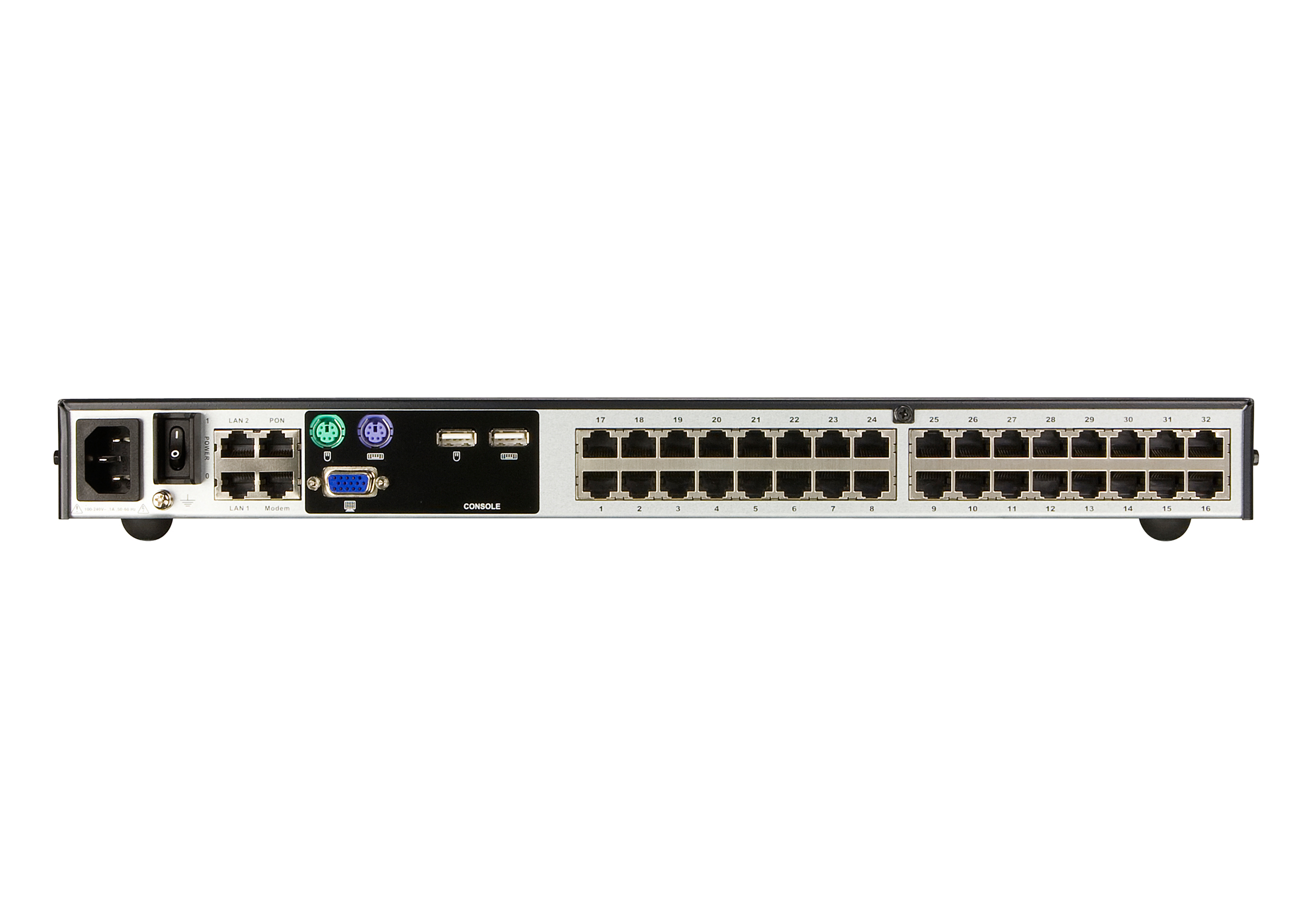 1-Local/4-Remote Access 32-Port Cat 5 KVM over IP Switch  (1600 x 1200)-2