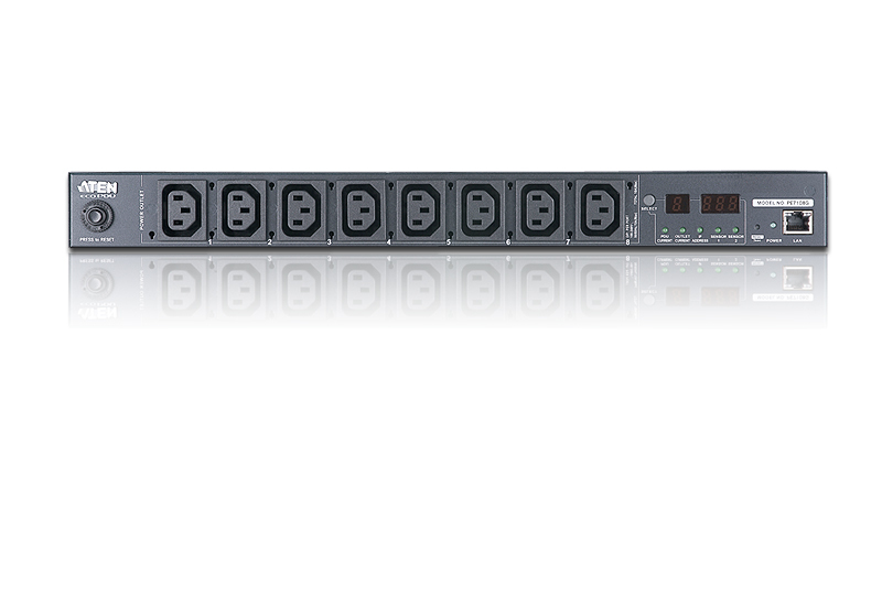 15A/10A 8-Outlet 1U Outlet-Metered eco PDU-3