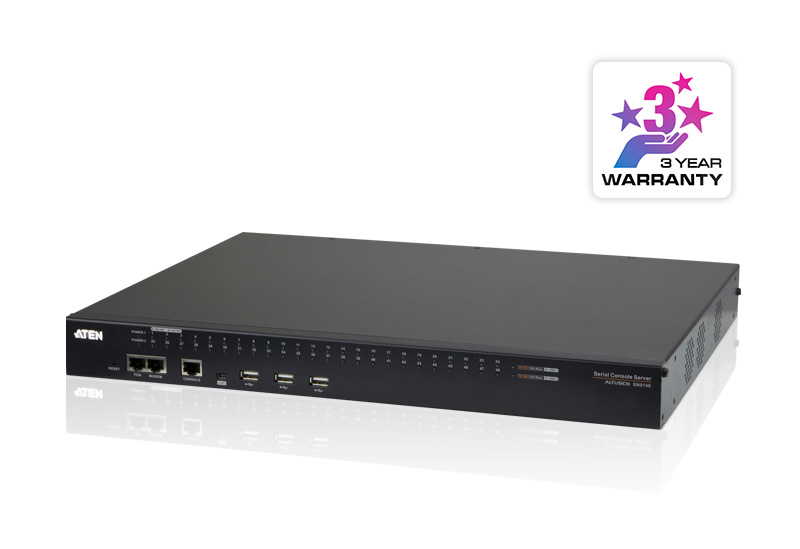 48-Port Serial Console Server with Dual Power/LAN-2