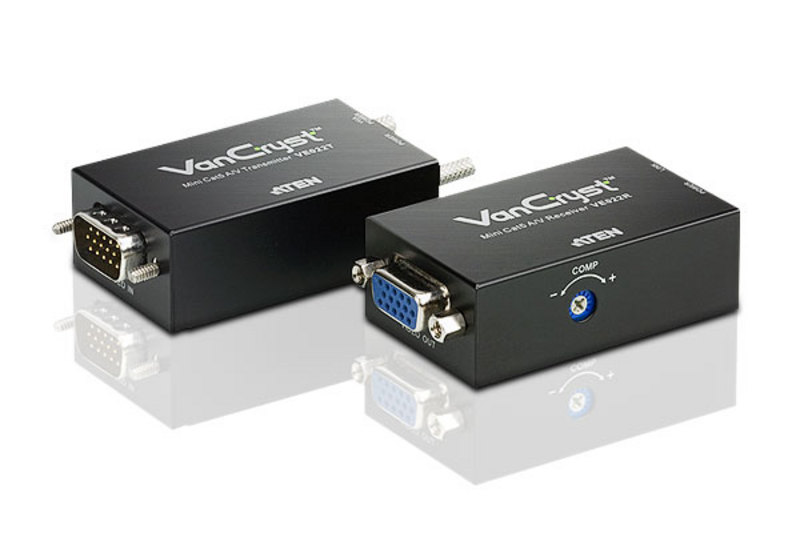 Mini-VGA/Audio-Cat-5-Extender (1280 x 1024 bei 150 m)
