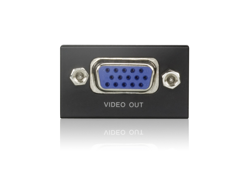 Mini VGA/Audio Cat 5 Receiver (1280 x 1024@150m)-3