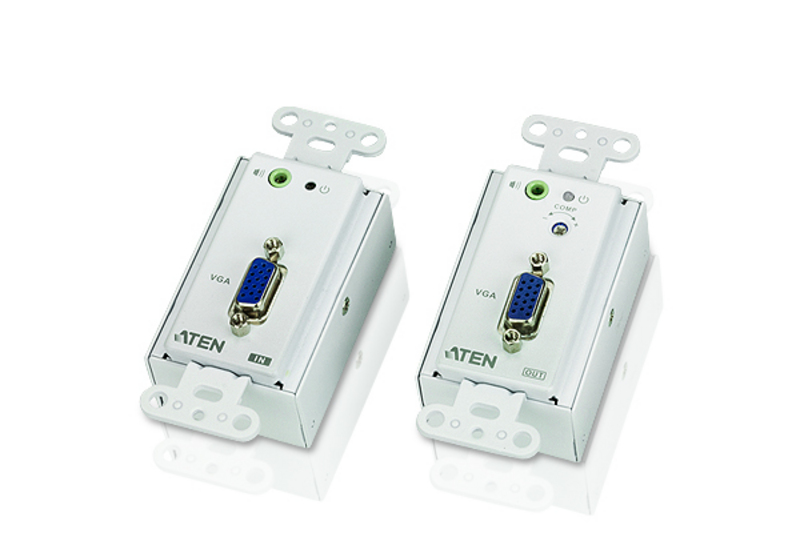 VGA/Audio Cat 5 Extender Wall Plate (1280 x 1024@150m)-1