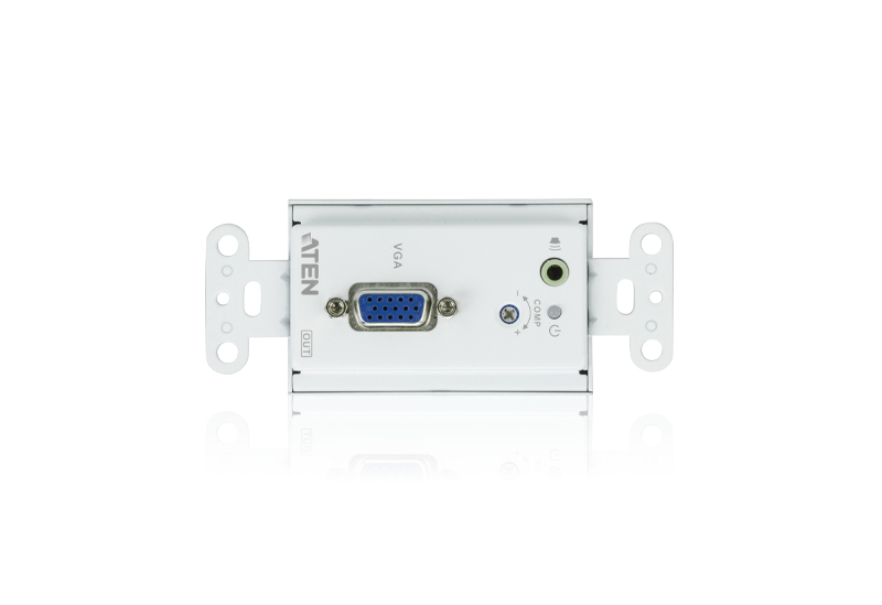 VGA/Audio Cat 5 Receiver Wall Plate (US) (1280 x 1024@150m)-3