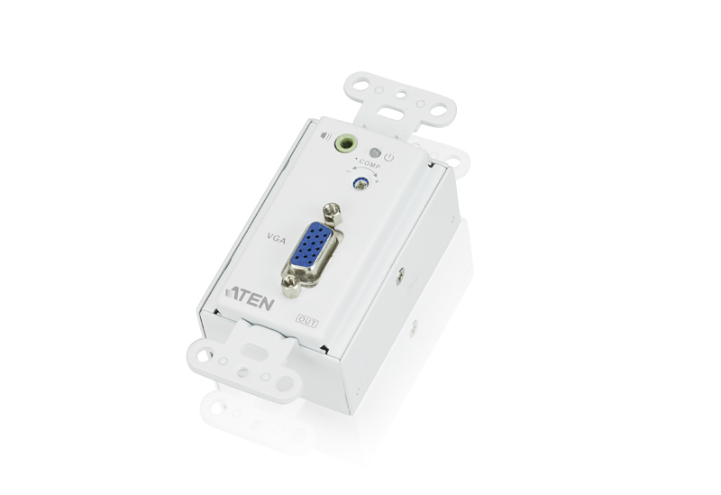 VGA/Audio Cat 5 Receiver Wall Plate (US) (1280 x 1024@150m)-2
