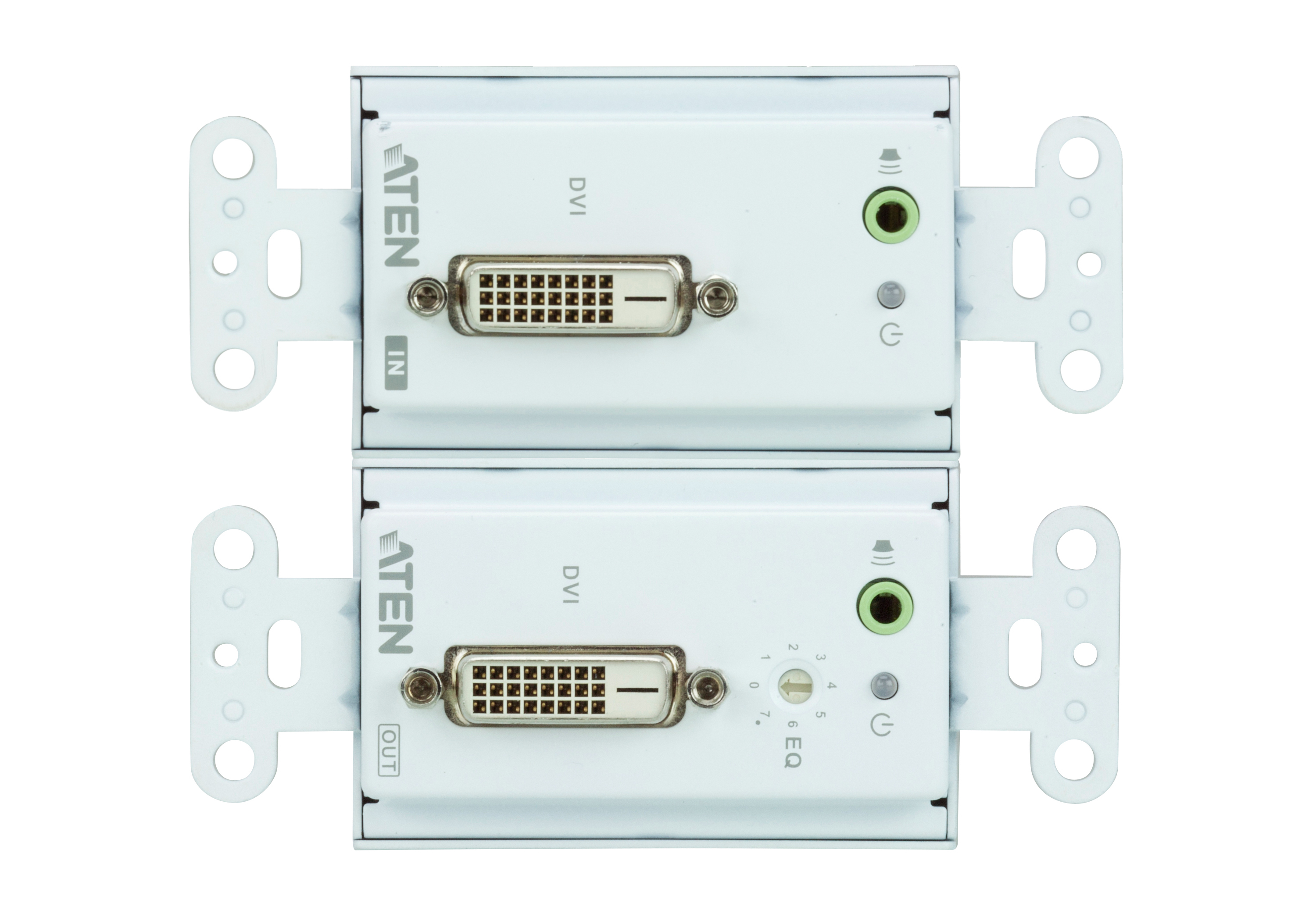 DVI/Audio Cat 5 Extender Wall Plate (US) (1920 x 1200@40m)-3