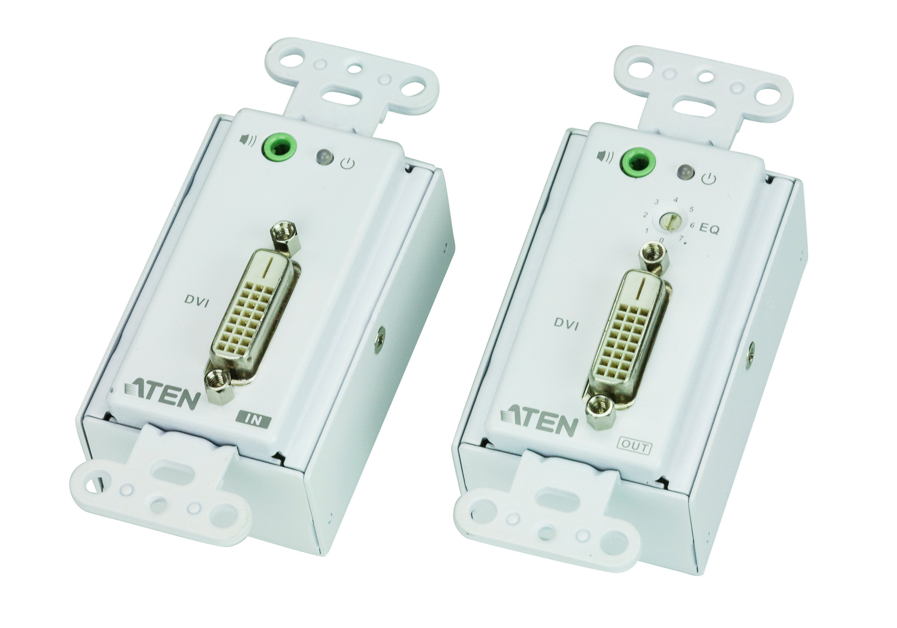 DVI/Audio Cat 5 Extender Wall Plate (1920 x 1200@40m)-1