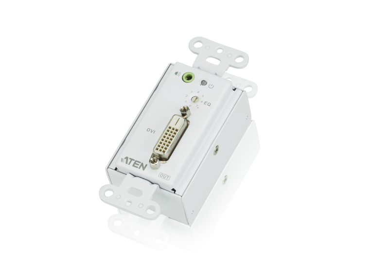 DVI/Audio Cat 5 Receiver Wall Plate (US) (1920 x 1200@40m)-1
