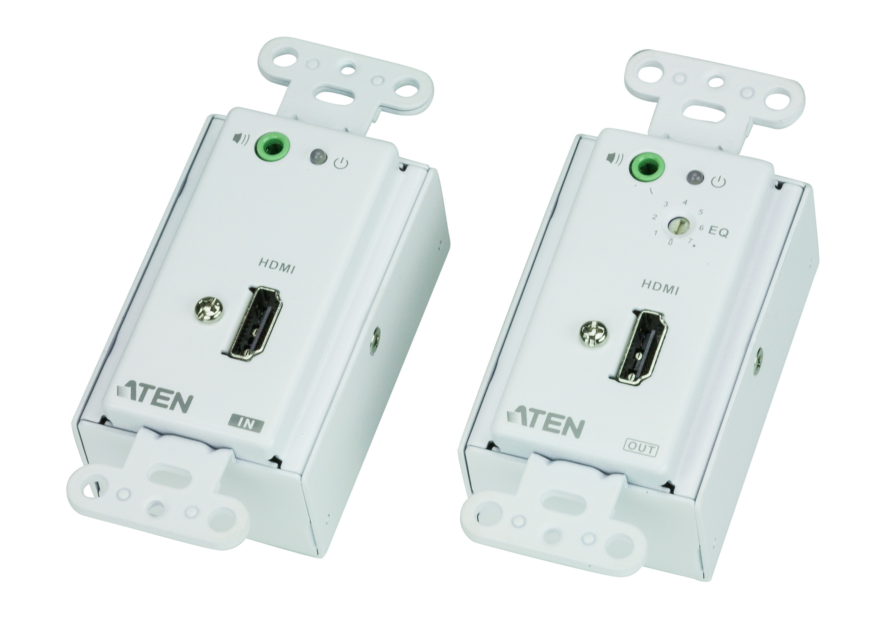 HDMI/Audio Cat 5 Extender Wall Plate (1080p@40m)-1