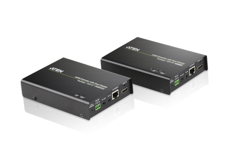ATEN (VE814-AT-U) VanCryst HDMI HDBaseT Extender with Dual Output - (1080p@100m, 4K@100m)
