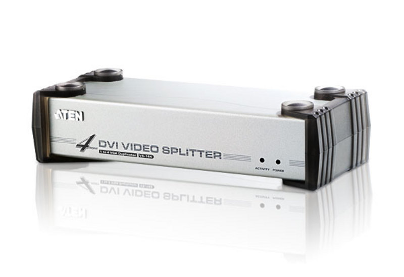 4-Port DVI/Audio Splitter