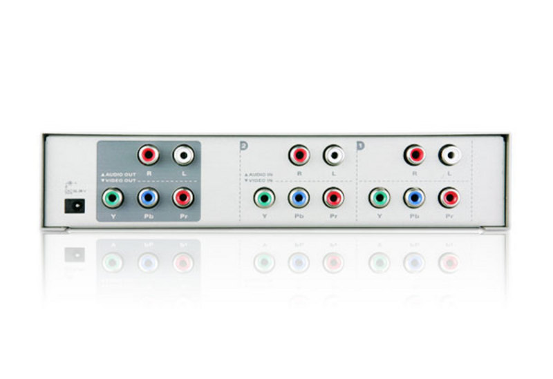 2-Port Component Audio/Video Switch with IR Remote-2