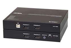 USB DisplayPort Dual View HDBaseT™ 2.0 KVM Extender (4K@300ft for Single View)