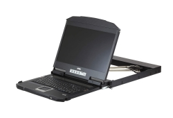 Ultra Short Depth Dual Rail WideScreen LCD Console (USB, HDMI / DVI / VGA)