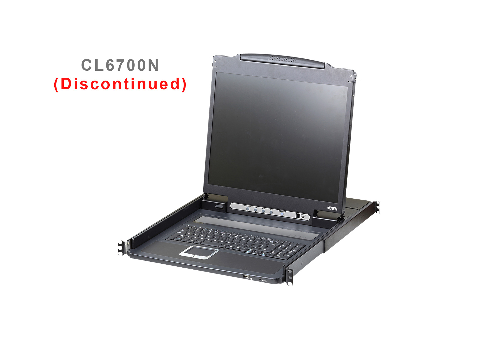 Single Rail LCD Console with USB Peripheral Support (USB / HDMI / DVI / VGA)-2