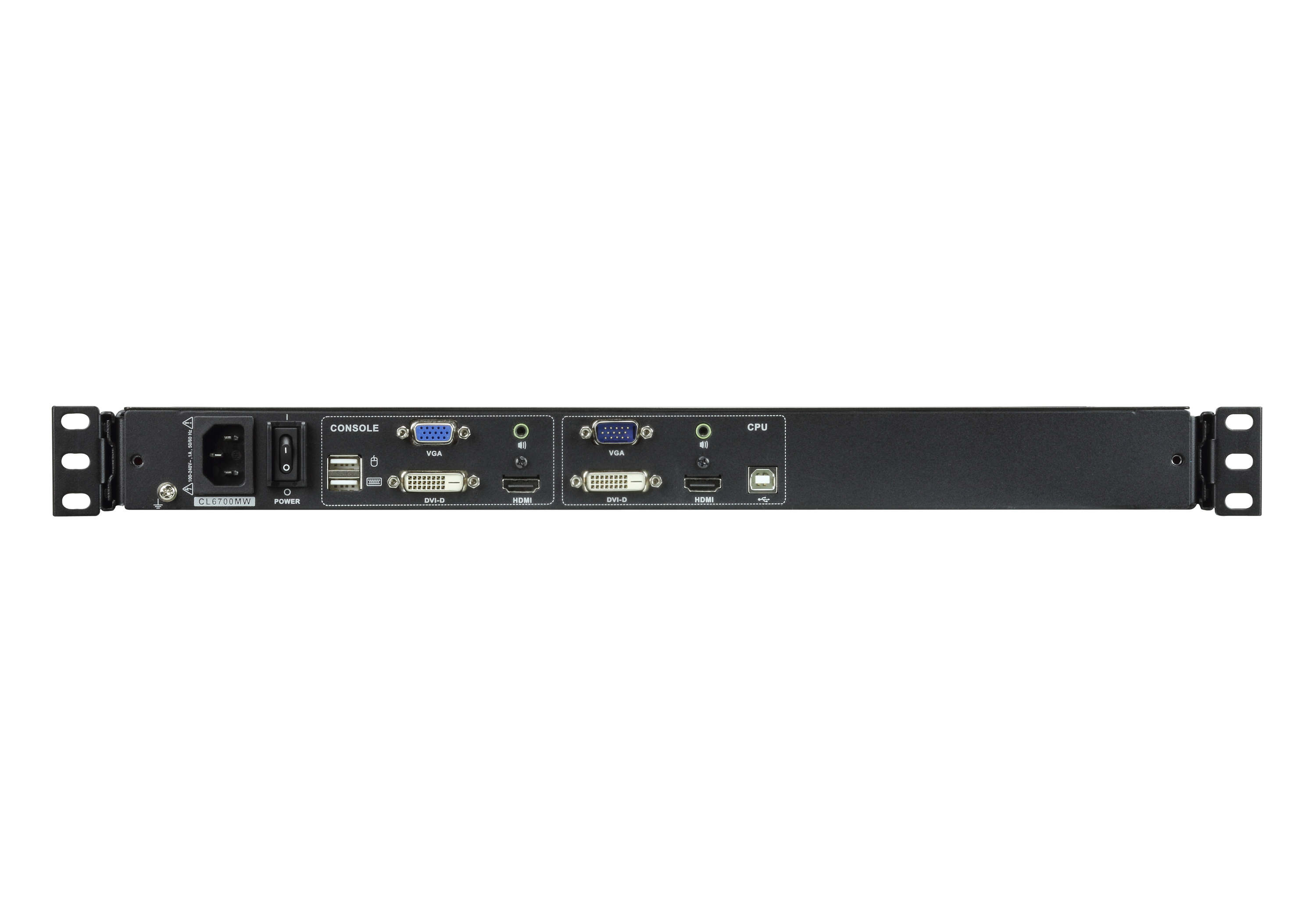 Single Rail LCD Console (USB, HDMI / DVI / VGA)-2