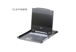 Single Rail LCD Console with USB Peripheral Support (USB / HDMI / DVI / VGA)