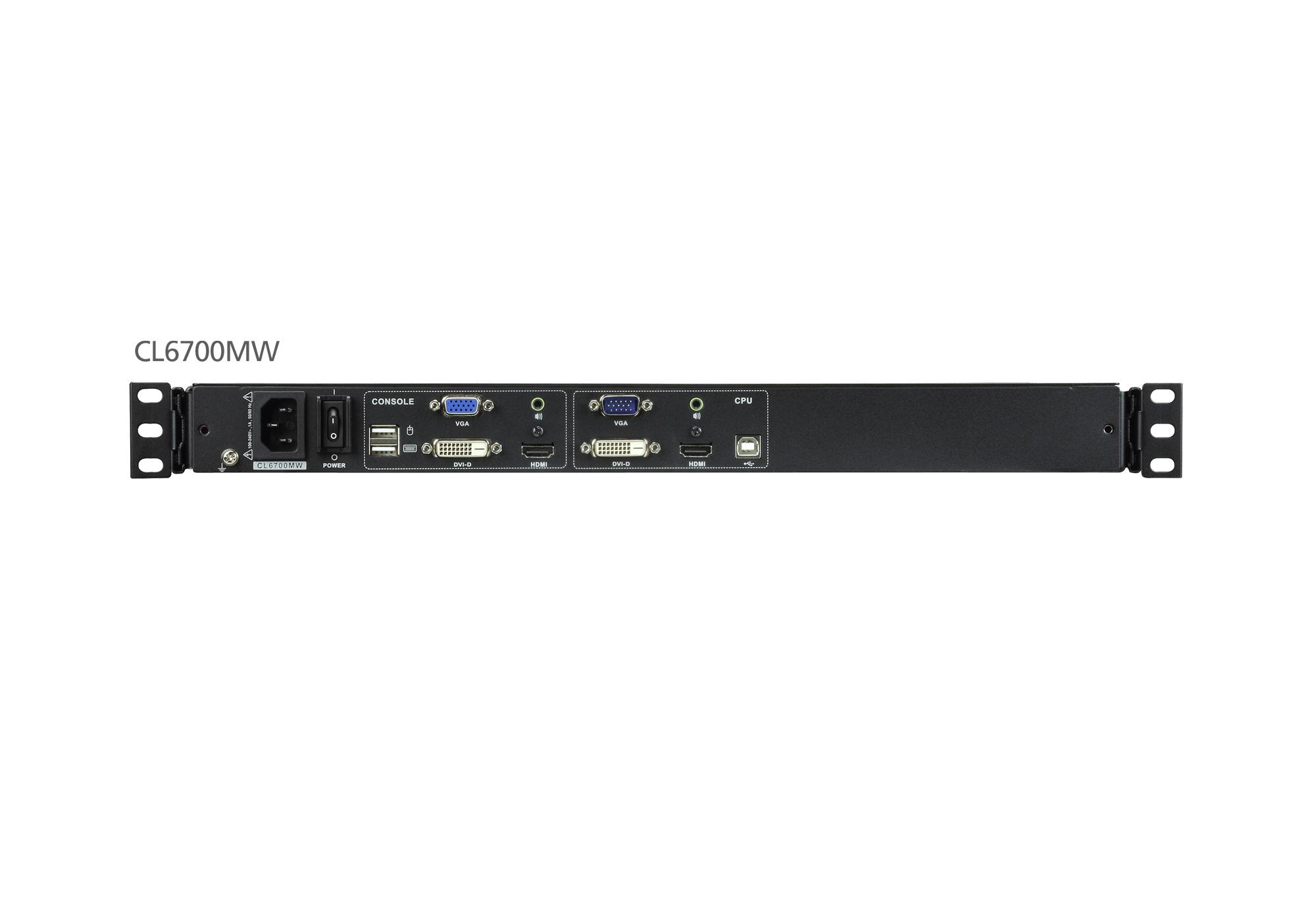 usb dvi フルhdワイド対応lcdコンソールドロワー usbデバイス対応