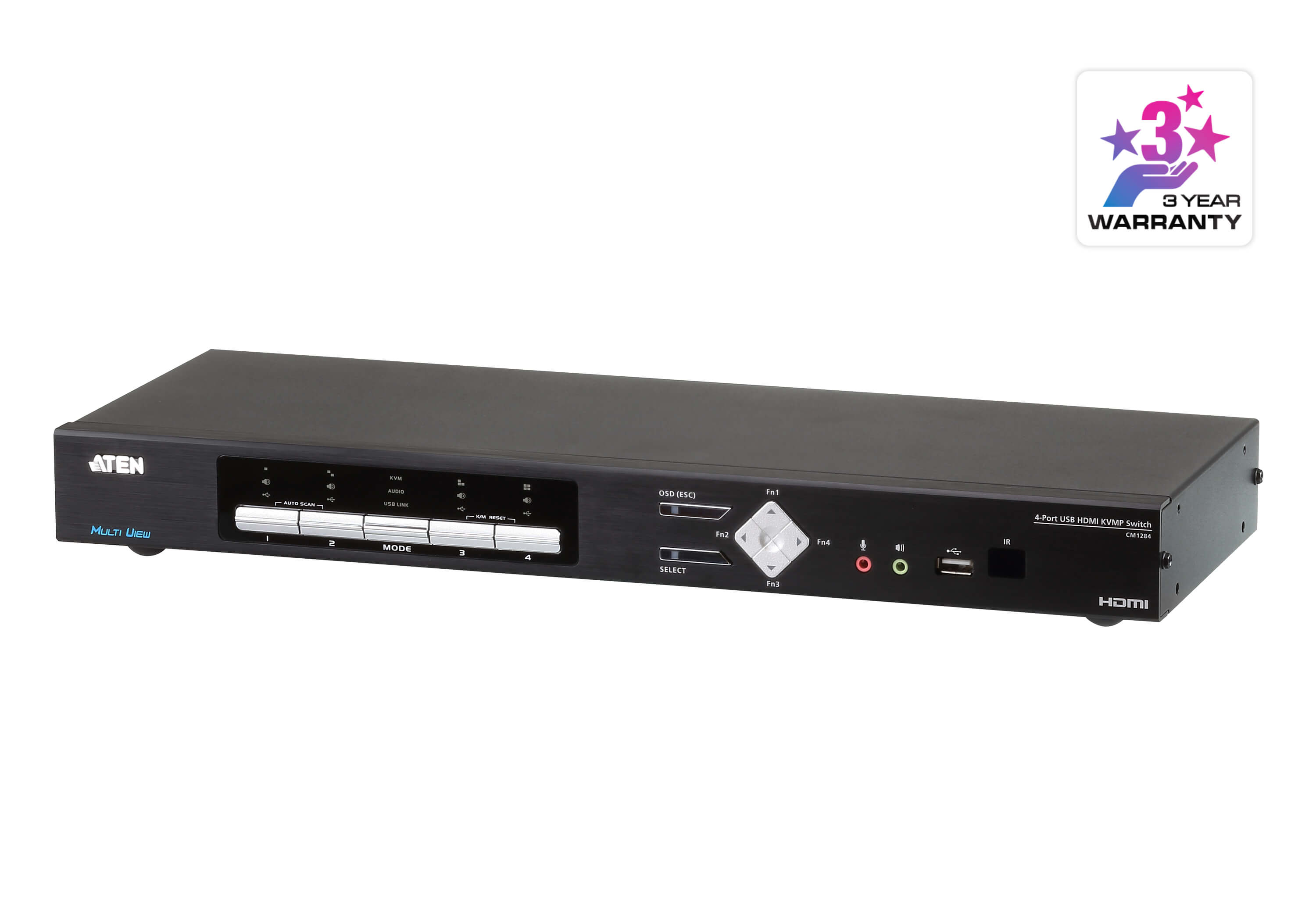 4-Port USB 4K HDMI Multi-View KVMP™ Switch