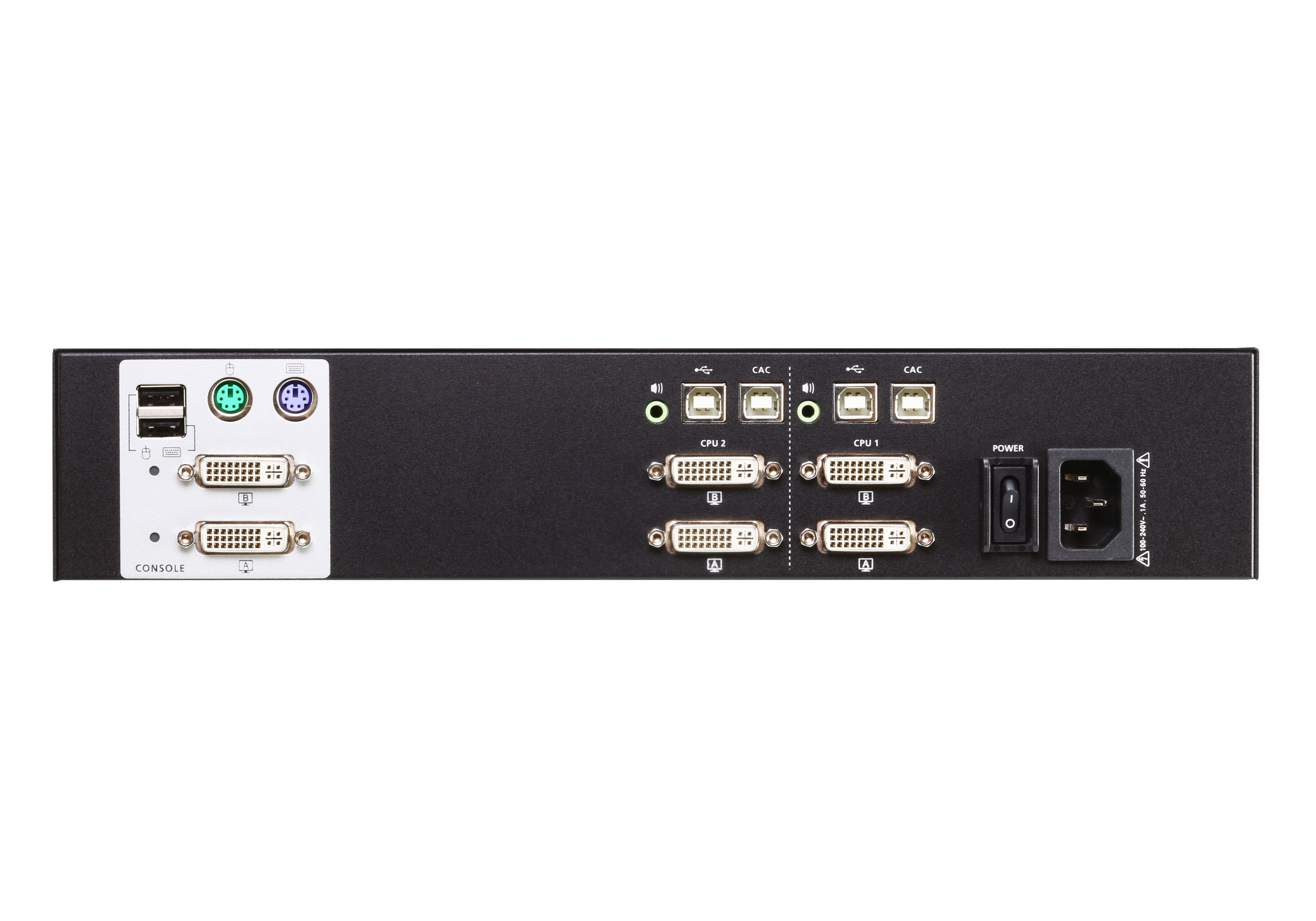 2-Port USB DVI Dual Display Secure KVM Switch (PSS PP v3.0 Compliant)-2