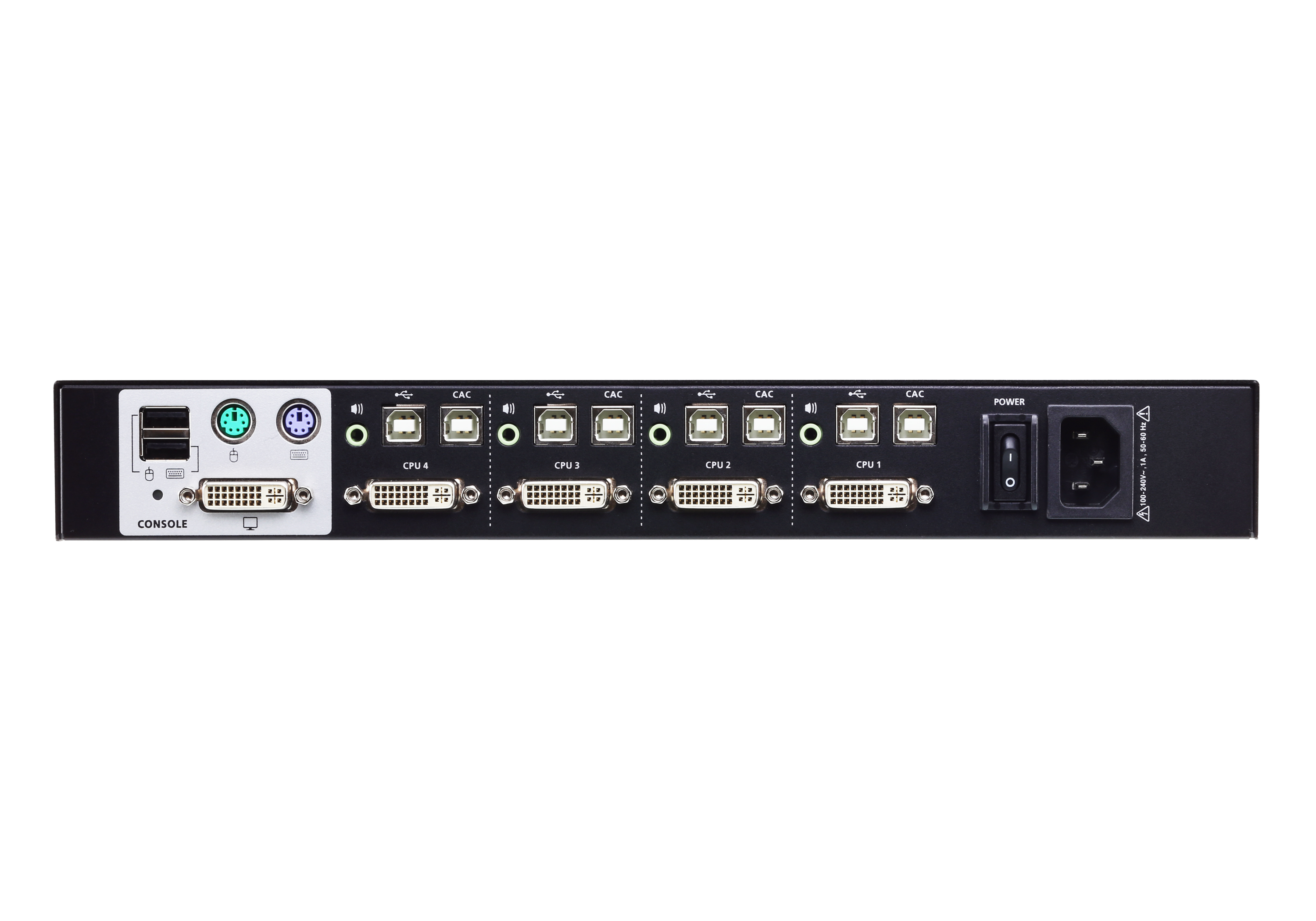 4-Port USB DVI Secure KVM Switch (PSS PP v3.0 Compliant)-2
