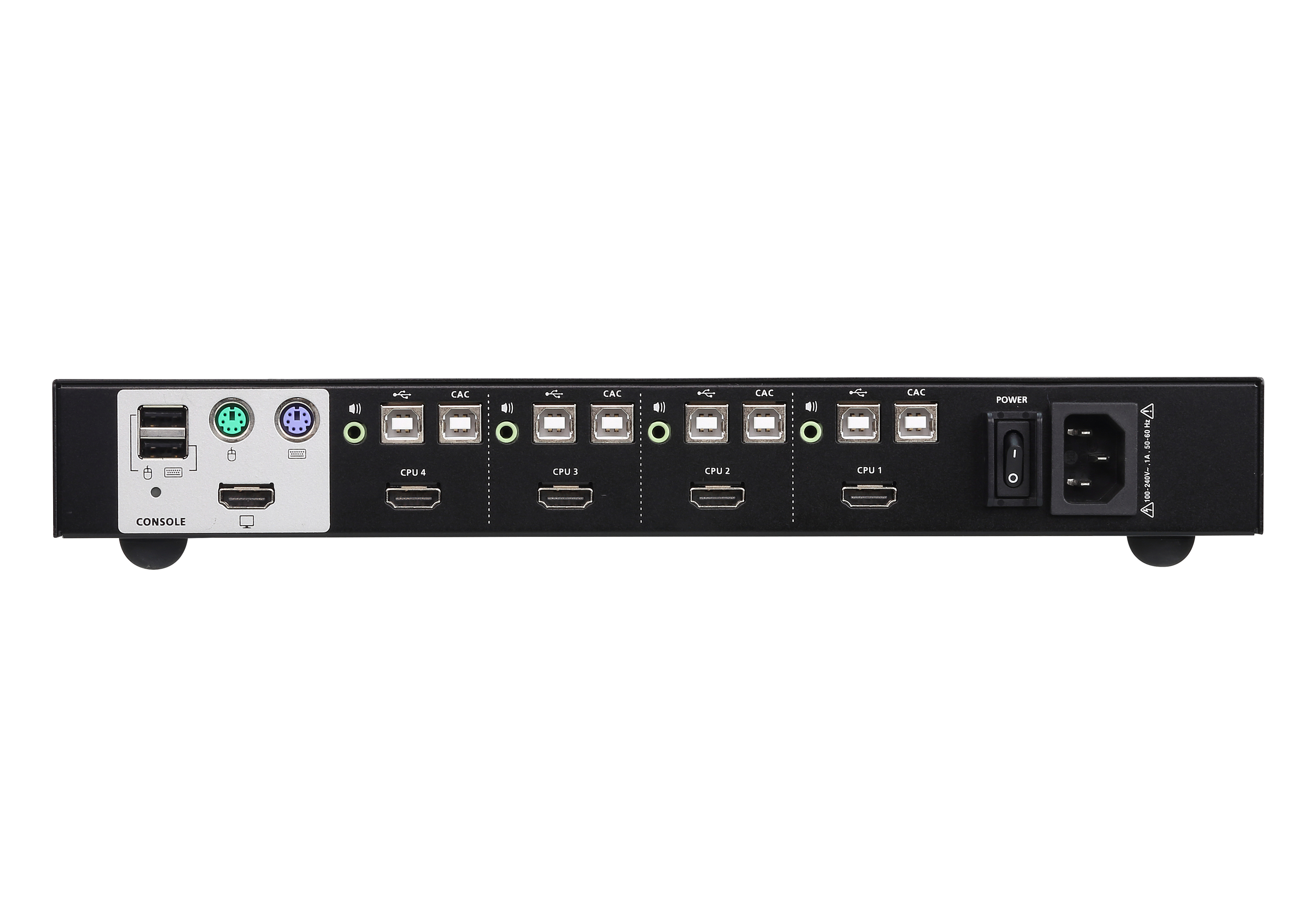 4-Port USB HDMI Secure KVM Switch (PSS PP v3.0 konform)-2