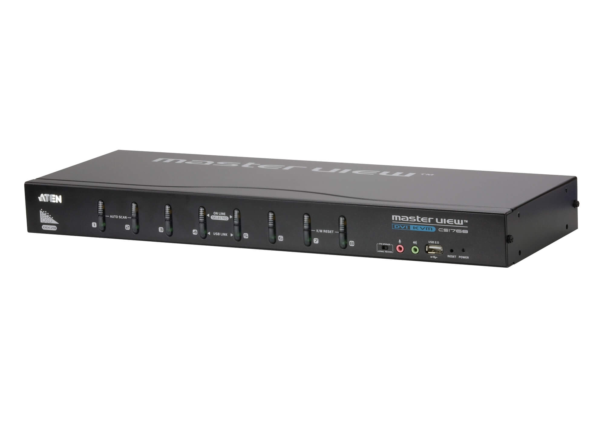 8-Port USB DVI/Audio KVM Switch - CS1768, ATEN Rack KVM Switches ...