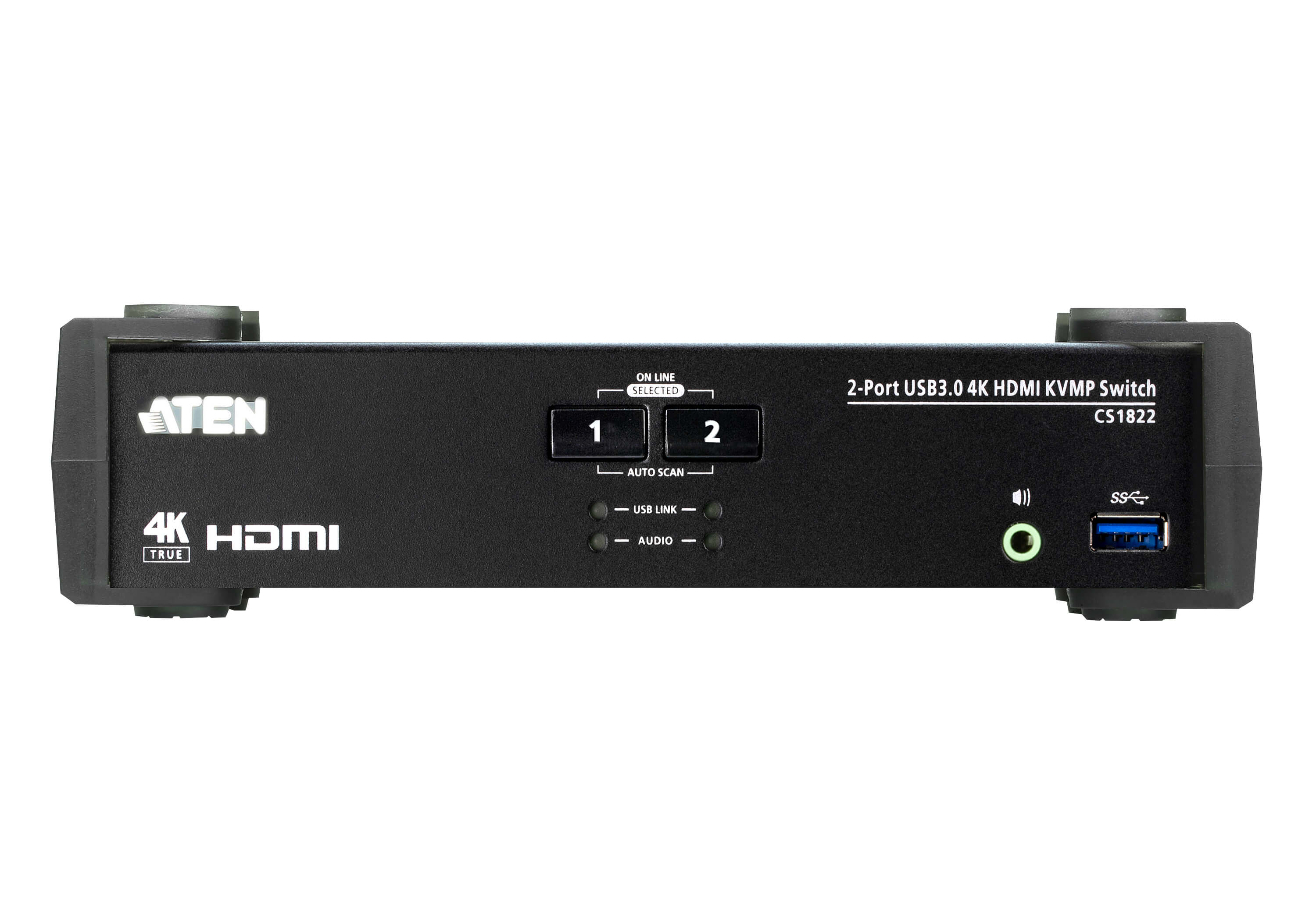 2-Port USB 3.0 4K HDMI KVMP™ Switch with Audio Mixer Mode-3