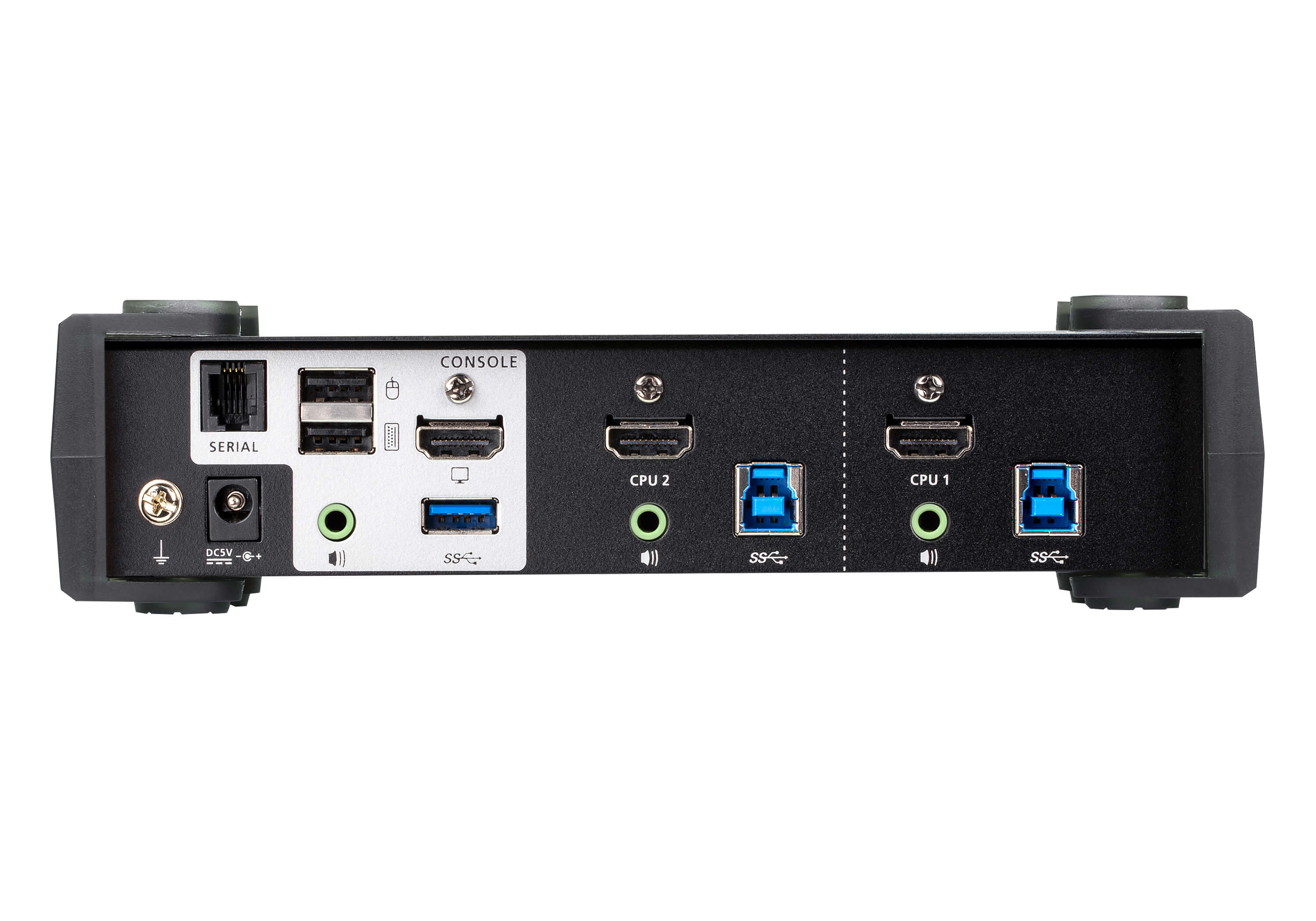 2-Port USB 3.0 4K HDMI KVMP™ Switch with Audio Mixer Mode-2