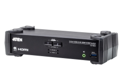 2-Port USB 3.0 4K HDMI KVMP™ Switch mit Audio Mixer Modus