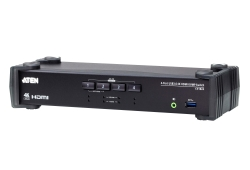 4-Port USB 3.0 4K HDMI KVMP™ Switch with Audio Mixer Mode