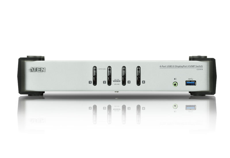 4-Port USB 3.0 DisplayPort KVMP™ Switch (Kabel enthalten)-3