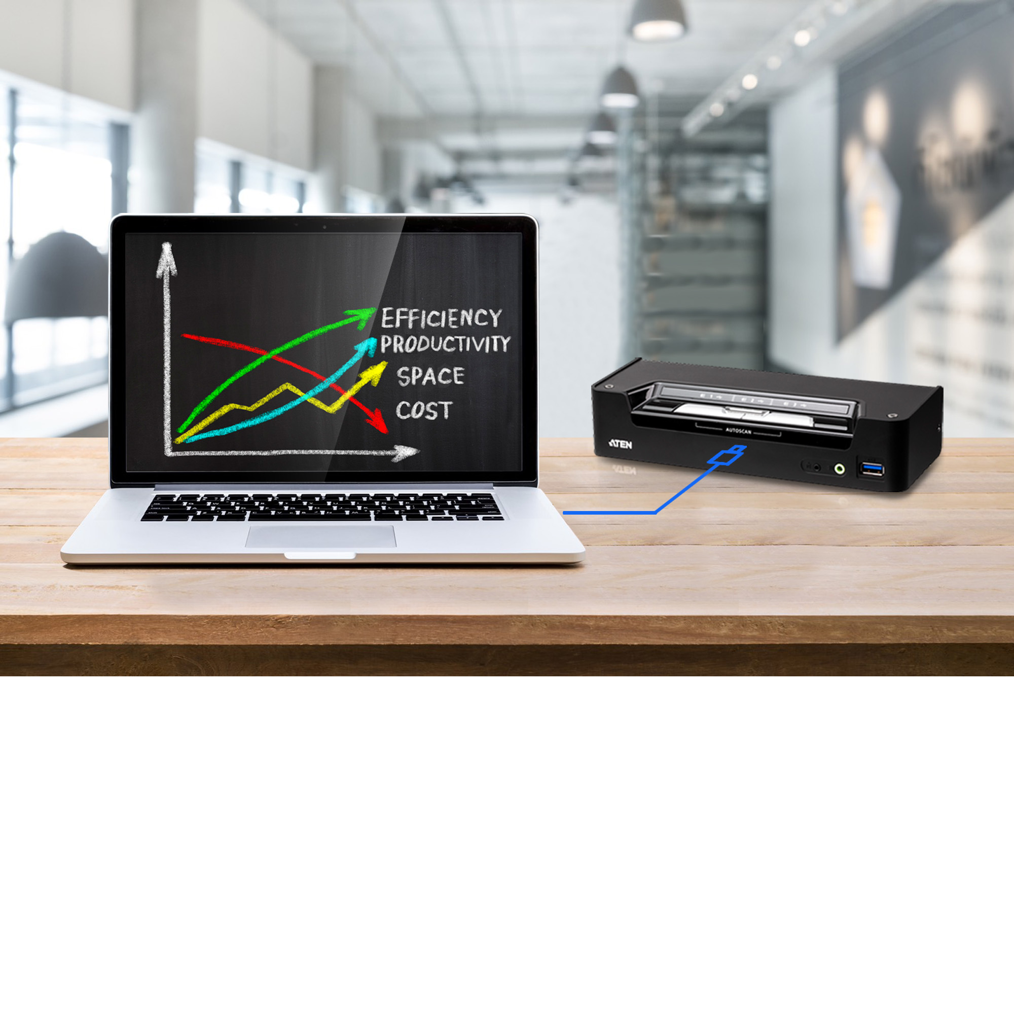 3-Port USB-C DisplayPort Hybrid KVMP™ Switch-4