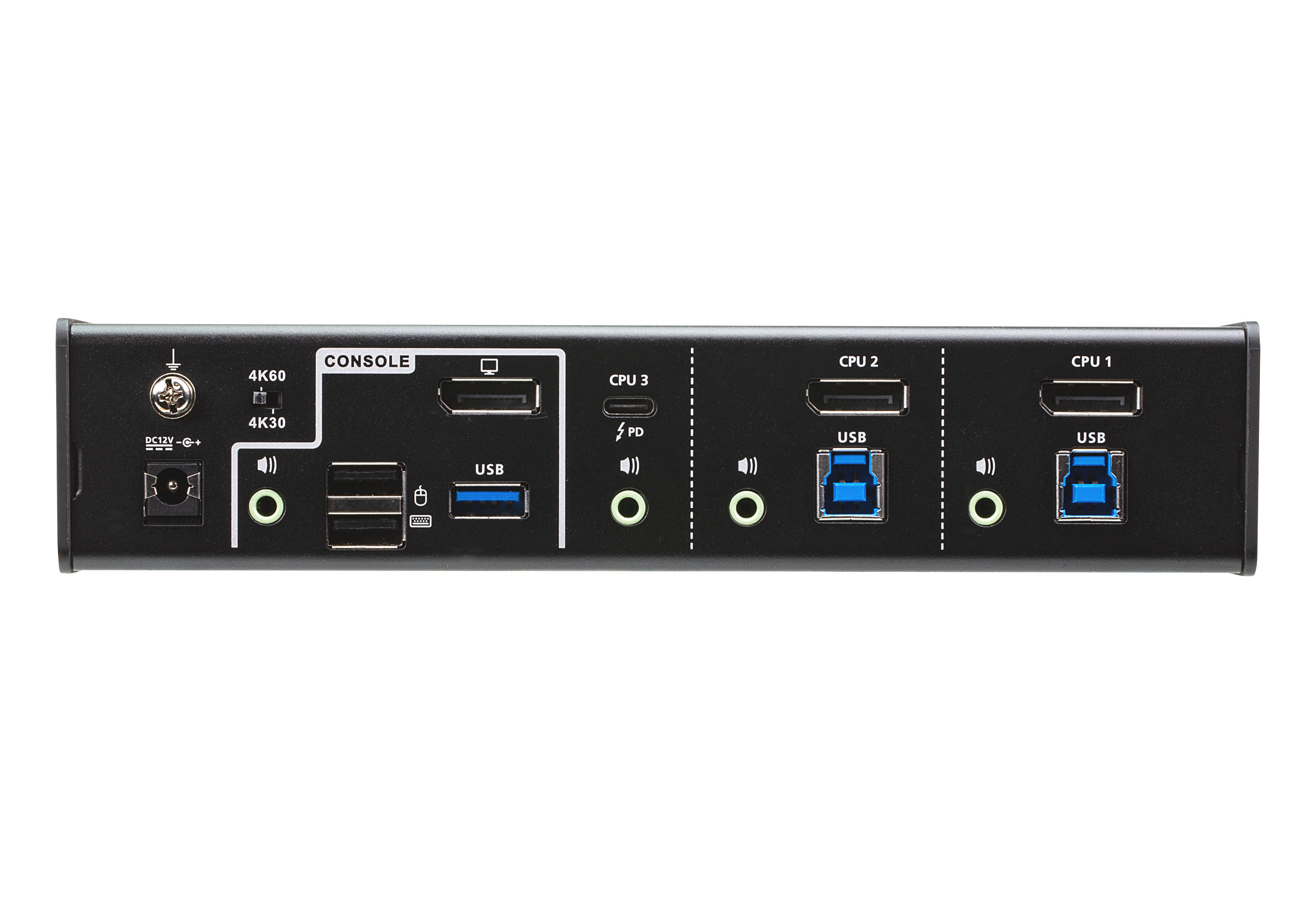 3-Port USB-C DisplayPort Hybrid KVMP™ Switch-2