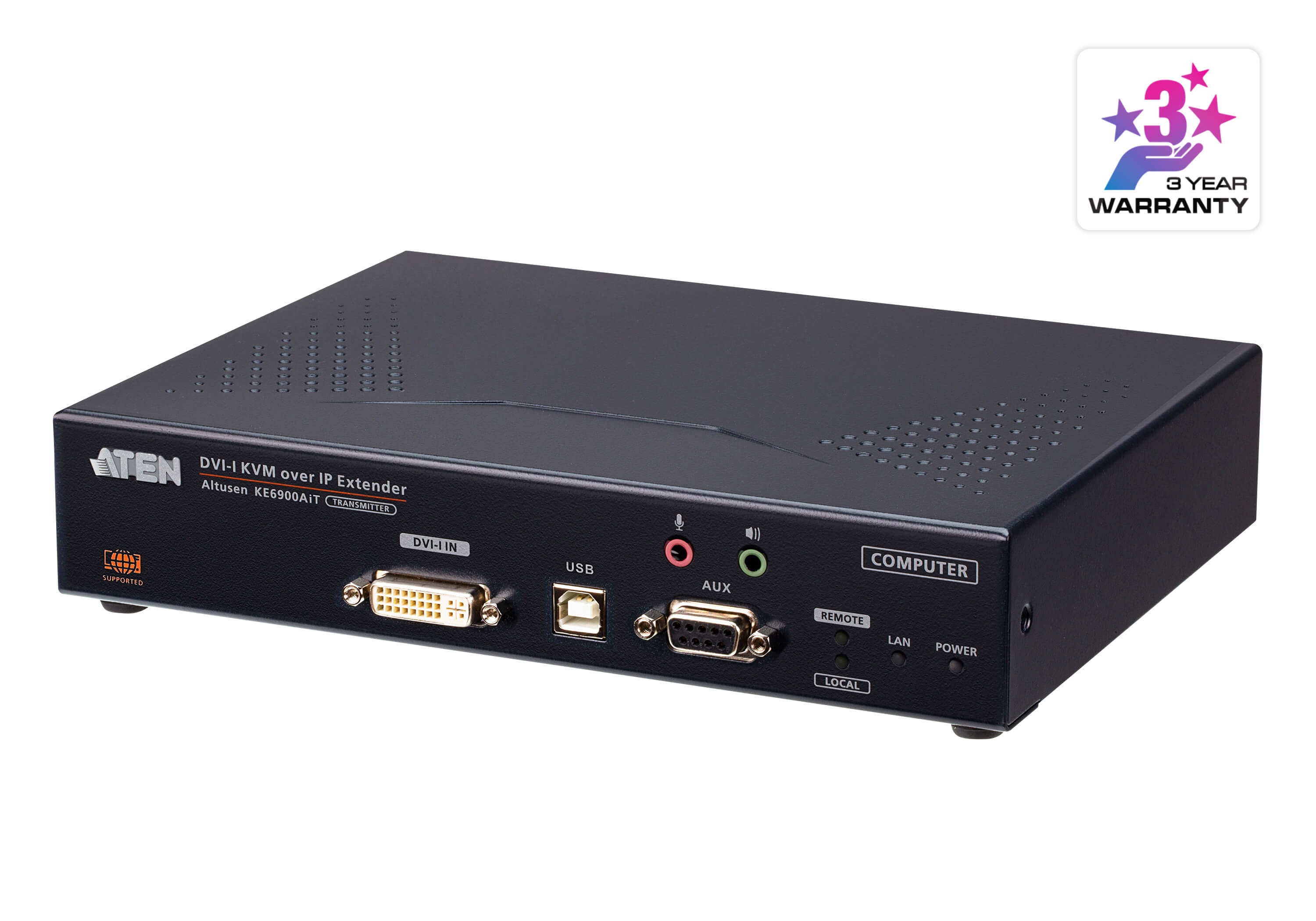 DVI-I Single Display KVM over IP Transmitter with Internet Access